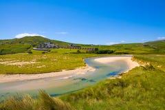Belle plage de crique d'orge, liège occidental, Irlande Photographie stock