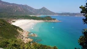 Belle plage, plage de Ham Tin, Hong Kong images libres de droits