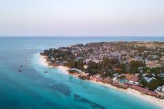Belle plage de Zanzibar Nungwi Photo libre de droits