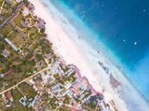 Belle plage de Zanzibar Nungwi Photographie stock