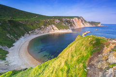 Belle plage dessus de Dorset, R-U Photographie stock