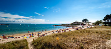 Belle plage en Bretagne, France Images stock