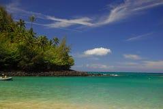 Belle plage Hawaï de Ke'e Images libres de droits