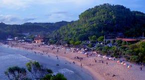Belle plage Indonésie de paradis d'Indrayanti photo libre de droits