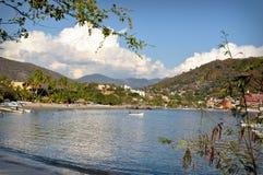Belle plage sablonneuse au Mexique Image libre de droits