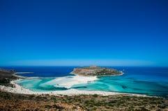 Belle plage sur Crète Photo stock