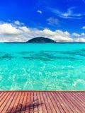 Belle plage sur l'île Photo libre de droits