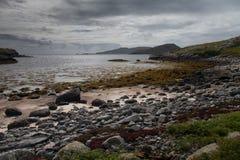 Belle plage sur l'île de Barra Image stock