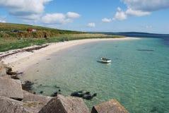 Belle plage sur Orkney images stock