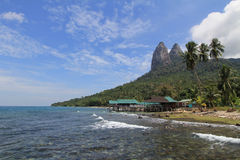 Belle plage tranquille d'île de Tioman, Malaisie Images stock