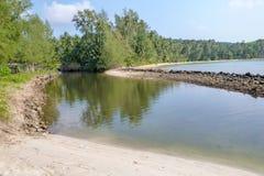 Belle plage tropicale à l'île de Koh Kood, Thaïlande Images libres de droits