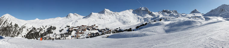 Belle Plagne landscape panorama Royalty Free Stock Image