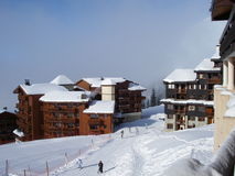Belle Plagne ski resort Royalty Free Stock Photo
