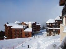 Belle Plagne ski resort. Belle Plagne village, 2000m, in Alpine ski-resort La Plagne, Paradiski region, France Royalty Free Stock Photo