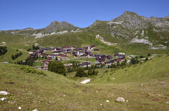 Belle Plagne village in France Royalty Free Stock Photography