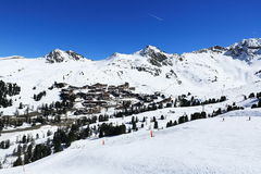 Belle Plagne, Winter landscape in the ski resort of La Plagne, France Royalty Free Stock Images