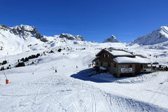Belle Plagne, Winter landscape in the ski resort of La Plagne, France Stock Photo