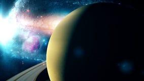 Belle planète réaliste Saturn d'espace lointain Photographie stock libre de droits