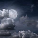 Belle pleine lune Image libre de droits