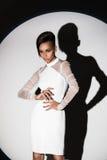 Belle pose africaine américaine de fille Photo stock