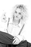 Belle pose blonde de fille Image libre de droits