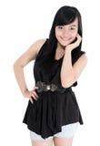 Belle pose de mannequin de jeune femme Photo libre de droits