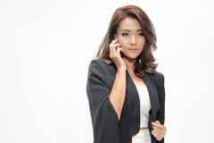 Belle position asiatique de femme de portrait Image libre de droits