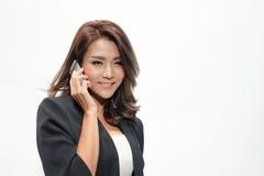 Belle position asiatique de femme de portrait Photos libres de droits