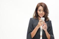 Belle position asiatique de femme de portrait Photo stock