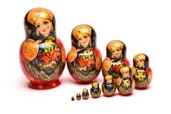 Belle poupée de Russe de matryoshka Photos stock
