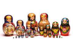 Belle poupée de Russe de matryoshka photos stock