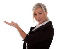 Belle présentation de femme d'affaires Photographie stock libre de droits