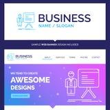 Belle présentation de marque de concept d'affaires, homme d'affaires illustration libre de droits