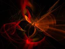 , belle présentation numérique de métaphore de chaos de fractale, calibre abstrait magique de conception de tendance de mouvement illustration stock