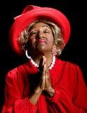 Belle prière afro-américaine de femme Images stock