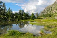 Belle réflexion de cloudscape Photographie stock