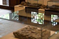 Belle réflexion de fenêtre de vieux musée de Pékin Hutong photographie stock