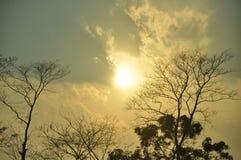 Belle réflexion du ciel images libres de droits