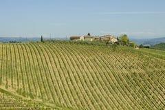 Belle région de chianti en Toscane images libres de droits