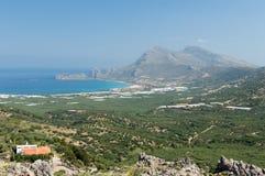 Belle région naturelle de paysage de Chania images stock