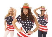 Belle ragazze americane Fotografie Stock Libere da Diritti