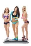 Belle ragazze che promuovono gli stili di vita sani Fotografia Stock