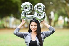Belle ragazze 28 donne felici di divertimento delle ragazze Immagini Stock