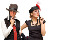 Belle ragazze a due bracci Fotografie Stock Libere da Diritti