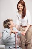Belle relation entre la grand-maman et la petite-fille Photos libres de droits