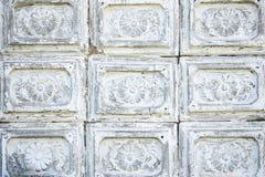 Belle retro mattonelle grige antiche d'annata del cemento Fotografia Stock
