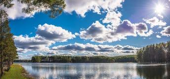 Belle riflessioni del lago Fotografia Stock