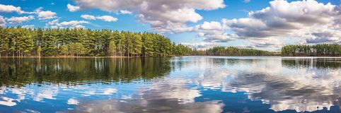 Belle riflessioni del lago Fotografia Stock Libera da Diritti