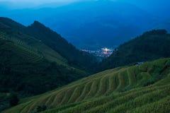 Belle risaie del paesaggio su a terrazze della MU Cang Chai alla t Immagini Stock Libere da Diritti