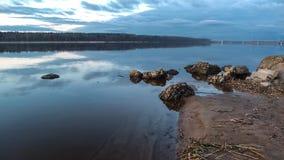 Belle rivière le soir Images stock